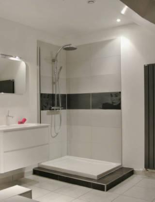 Salle d'eau refaite par l'entreprise De Stefano